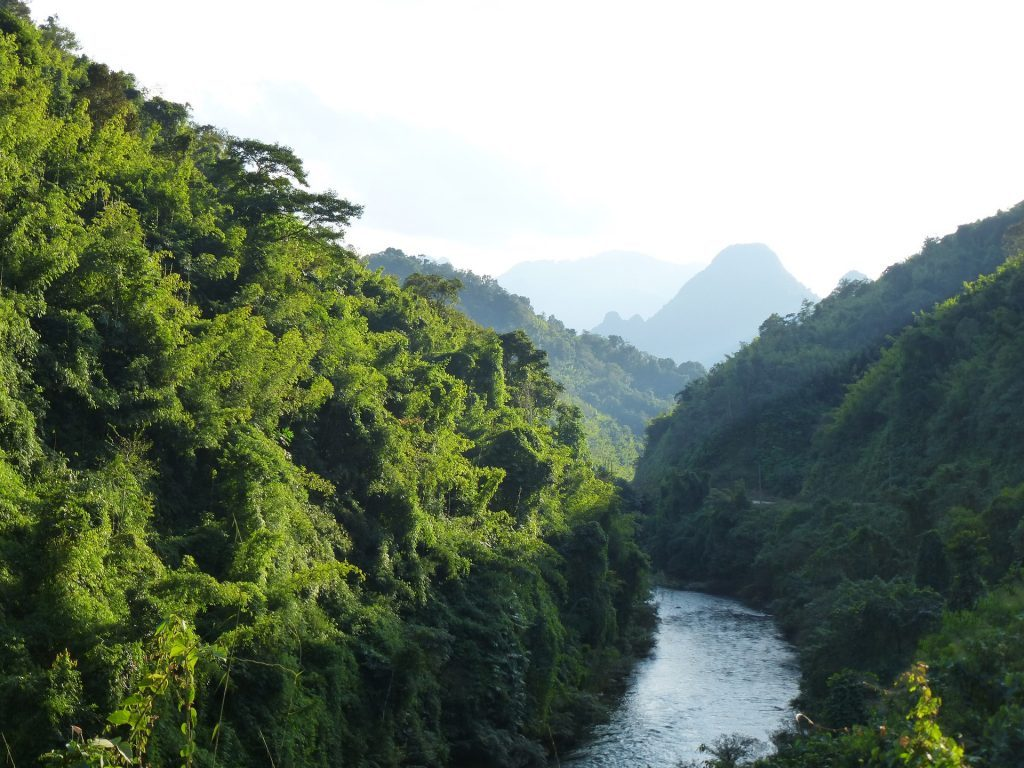 Mountainous landscape in Laos. Photo by Erdmann-Crew, Pixabay, taken on January 16, 2016. Licensed under CC0 1.0.